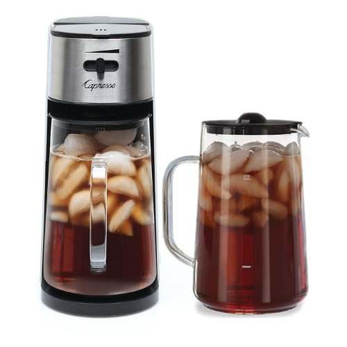 Capresso Stainless Steel Iced Tea Maker with Extra Tea Pitcher (Machine with Extra Tea Pitcher, White) by Capresso