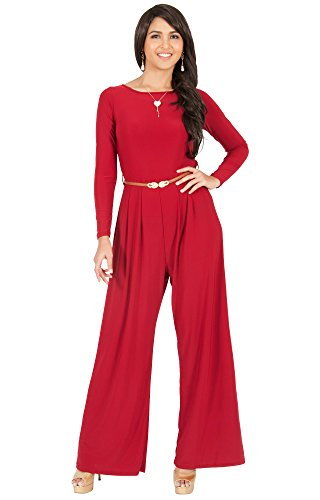 c0725e0e8e4 KOH KOH Plus Size Womens Long Sleeve Sleeves Wide Leg with Belt Formal  Elegant Cocktail Party Fall Pant Suit Pants Suits Jumpsuit Jumpsuits Romper  Rompers ...
