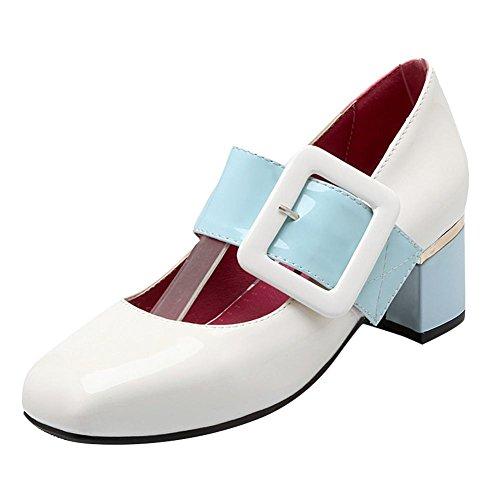 Carré Vernis Blanc Anglais MissSaSa Femmes Style Escarpins Bout nxATaFqzHw