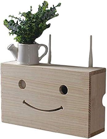 AK Montado en la pared del router inalámbrico Caja de almacenamiento creativa de madera sólida Wifi Bloque Caja estante de la pared Set-Top Box Plataforma: Amazon.es: Bricolaje y herramientas
