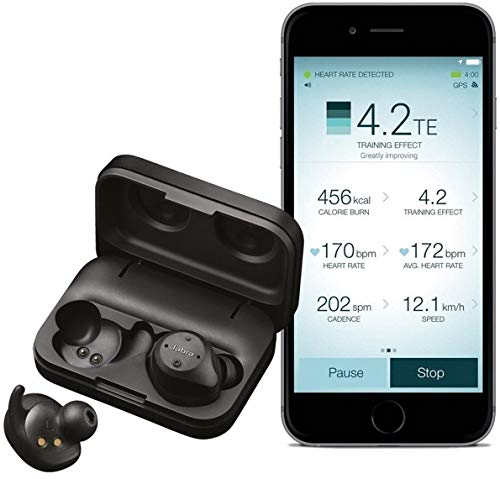 - Jabra Elite Sport True Wireless Waterproof Fitness & Running Earbuds with Heart Rate and Activity Tracker - Advanced wireless connectivity and charging case - 4.5 Hour- New Version Black