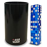 Dice Stacking Cup - Professional Straight Cups Black w/5 19mm Razor Edges Dice - Accessories - Magic Tricks
