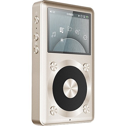 FiiO X1 Portable Music Player with Samson Stereo Headphones and Accessory Bundle, (Gold, 32GB)