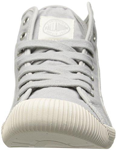 Palladium FLEX LACE MID - zapatillas deportivas altas de lona mujer Mehrfarbig/lunar rock marshmallow
