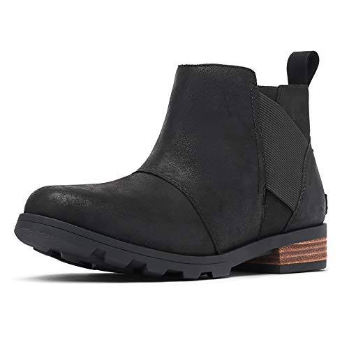 Sorel - Women's Emelie Chelsea Waterproof Ankle Boots, Black, 9 M US (Best Chelsea Boots 2019)