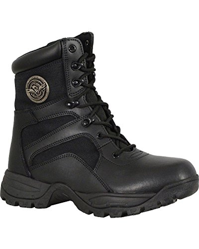 Milwaukee Leather Mens Lace to Toe Tactical Boot Round - Mbm9105 Black uHNOFPL