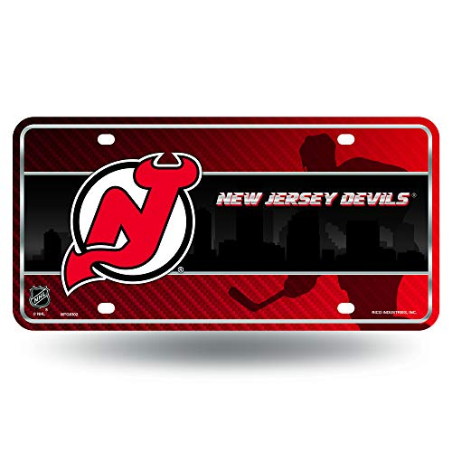 NHL New Jersey Devils Metal License Plate Tag
