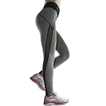 Yoga Pants, Zupoo(TM)colored Waistband Yoga Capris, Women's Fitness Leggings