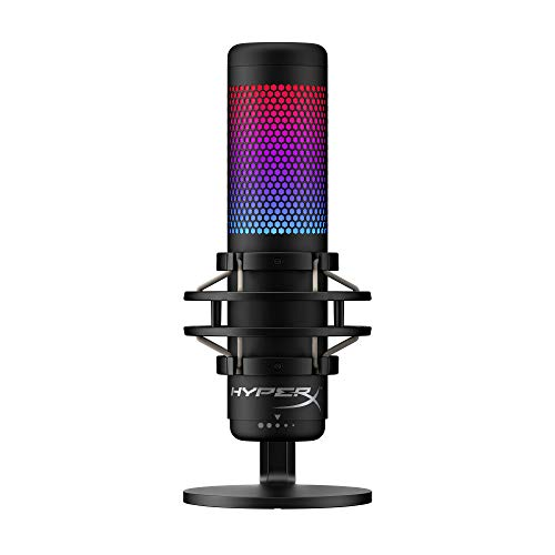 HyperX QuadCast S – RGB USB Condenser Microphone for PC, PS4 and Mac, Anti-Vibration Shock Mount, Pop Filter, Gaming, Streaming, Podcasts, Twitch, YouTube, Discord