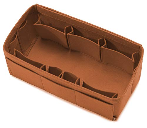 Pelikus Felt Purse & Tote Organizer Insert/Multi-Pocket Handbag Shaper (X-Large, Caramel)