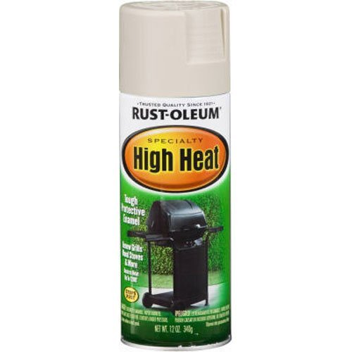 Price comparison product image Rust-Oleum 7750830 High Heat Enamel Spray,  Almond,  12-Ounce