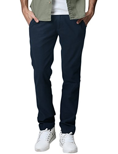 Banded Slim Pants - Match Men's Slim Tapered Linen Casual Trouser (36, 8059 Sapphire blue)