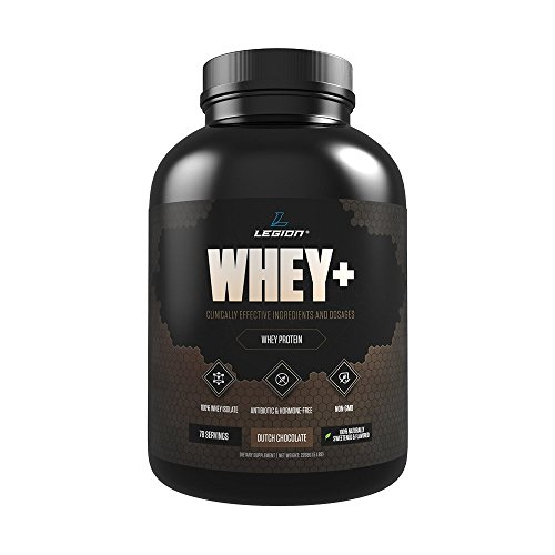 Legion Whey Chocolate Whey Isolate Protein Powder from Grass Fed Cows, 5lb. Low Carb, Low Calorie, Non-GMO, Lactose Free, Gluten Free, Sugar Free. Great For Weight Loss Bodybuilding.