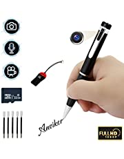 Camera Pen, Hidden Camera 32GB Spy Pen Camera 1080P Surveillance Camera with Motion Detection, Voice and Image Executive Multifunction Security Camera for Business and Conference