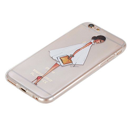 Für Apple iPhone 6 / iPhone 6S (4.7 Zoll) Hülle ZeWoo® TPU Schutzhülle Silikon Tasche Case Cover - HX011 / Side Gesicht Mädchen