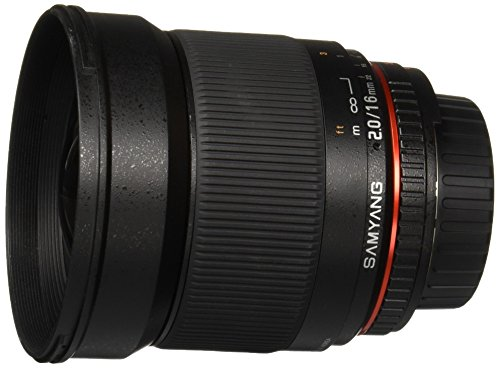 (Samyang SY16MAF-N 16mm f/2.0 Aspherical Wide Angle Lens with Auto Confirm Chip for Nikon (DX) Cameras)