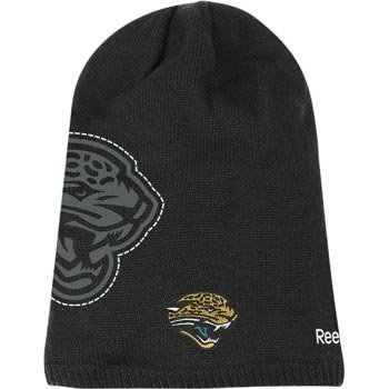 Jacksonville Jaguars Reebok 2010 Player Sideline Cuffless Long Knit Hat (Reebok Player Sideline Nfl)