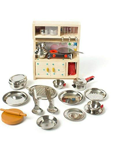 Buy Hk Toys Pretend Play Kitchen Cooking Playset With Wooden Stand