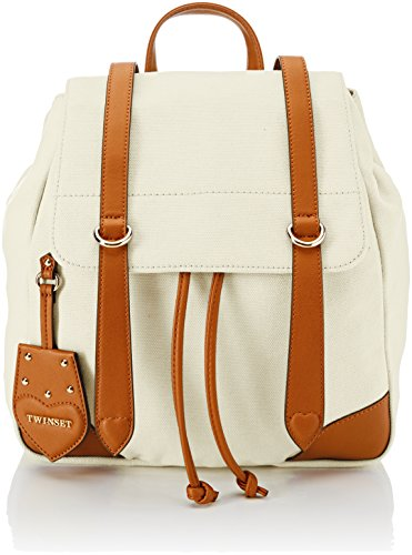 Twinset Milano Os8tad, sac à dos pour femme, 11x35x20 cm (w X H L) beige (bic.dune / cuir)