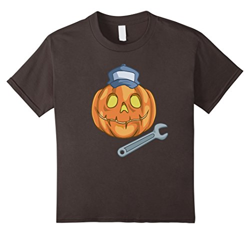 Kids Funny Mechanic Halloween Costume T-Shirt 12 (Mechanic Girl Halloween Costume)