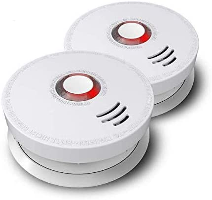 Photoelectric Smoke Alarm Ardwolf 2 Pack Fire Alarm With Ul