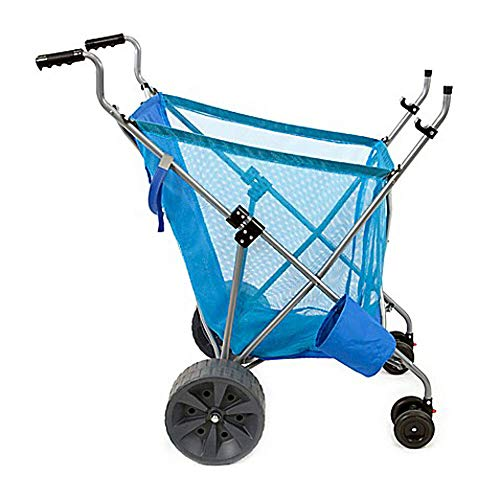 - Seina Steel Framed Collapsible Versatile Garden Cart Beach Sand Cruiser, Blue