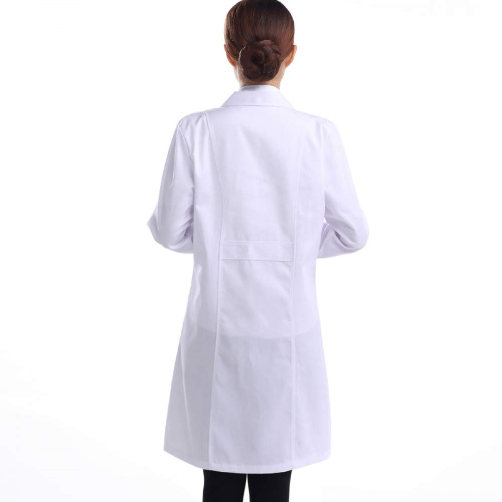 ESENHUANG Ropa Médica De Las Mujeres Hombre Hospital Lab Coat Uniforms White Long-Sleeved Traje Collar Ropa Médica para Hombres Ropa Médica: Amazon.es: Ropa ...