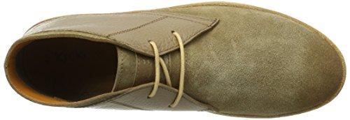 Kickers Korbane, Zapatos de Cordones Derby para Hombre Beige (Camel)
