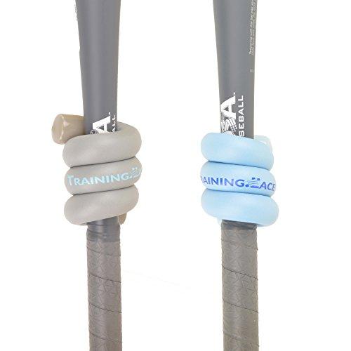 Training Lace Baseball Bat Weight Grand Slam Combo 8 oz and 12 oz (Blue/Gray)