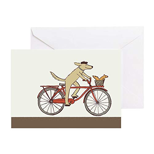CafePress &Quot;Dog And Squirrel&Quot; Thank You Cards (Pk O Greeting Card (20-pack), Note Card with Blank Inside, Birthday Card Matte