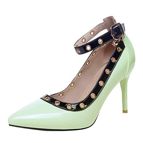 Grün Pumps mit heels Nieten high Damen Mee Shoes strap Ankle fp8xz1wq