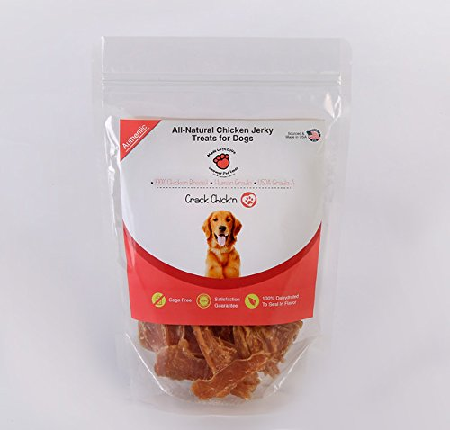 100% Breast Chicken - All Natural, Dehydrated Chicken Jerky Dog Treats, 100% Chicken Breast, Human Grade, USDA Grade A, Cage Free, Non-GMO, Grain Free, No Preservatives, Sourced & Made in USA, Great for Training