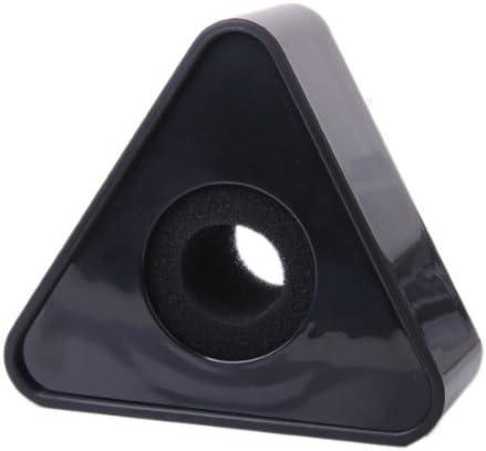 1pc Schwarzes ABS Mikrofon Interview Triangular Flag Station 39mm Loch