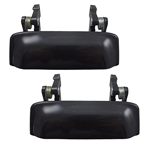 Pair Set Front Outside Exterior Door Handles Replacement for Ford Ranger Mazda Pickup Truck 6L5Z1022404CAPTM