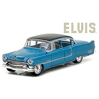 Cadillac 1955 Fleetwood Series 60 Special Elvis Presley Blue (1935-1977) 1/64 by Greenlight 44760 A: Toys & Games