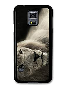 Cool Cute Lion Photography Wild Animal Nature in Black and White case for Samsung Galaxy S5 mini