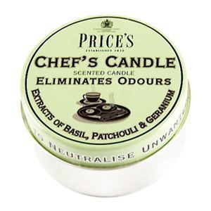 Prices Chefs Candle In Tin - Eliminates Cooking Cooks Kitchen Odour - Triple Pack