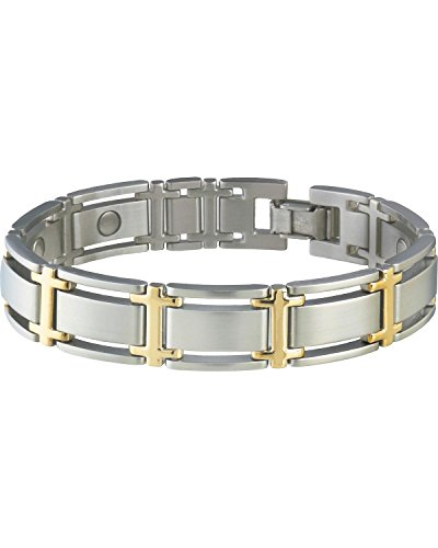 ve Symmetry Duet Magnetic Bracelet Silver Medium (Duet Magnetic Mens Bracelet)
