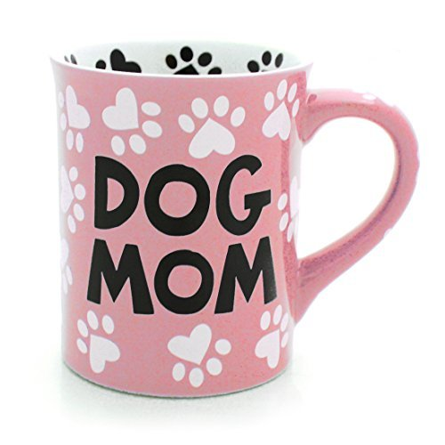 - Our Name is Mud Dog Mom Stoneware Mug, Pink