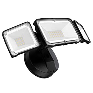 Amico 3500LM LED Security Light, 30W Outdoor Flood Light, Daylight White, IP65 Waterproof with 3 Adjustable Heads for…