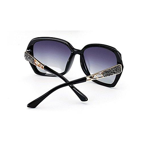 de Gafas cuadrado cristal sol de para de mujeres Gafas ULTRAVIOLETA decoración sol rizadas del marco la las las Gafas del de de sol de sol Negro gafas de señor sol Protección la Gafas polarizadas frescas de awrUqCO0a