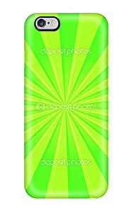 High Quality Bright Green Stripes Case For Iphone 6 Plus / Perfect Case