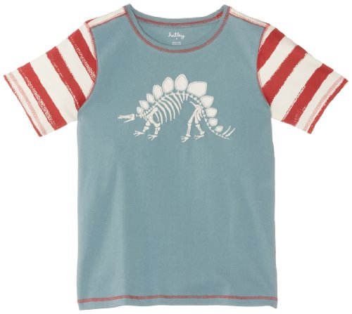 Hatley Little Boys' Peached-Jersey Dino Bones Graphic Tee