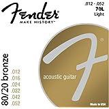 Fender 70L 80/20 Bronze Ball End 12-52, Acoustic Guitar Strings
