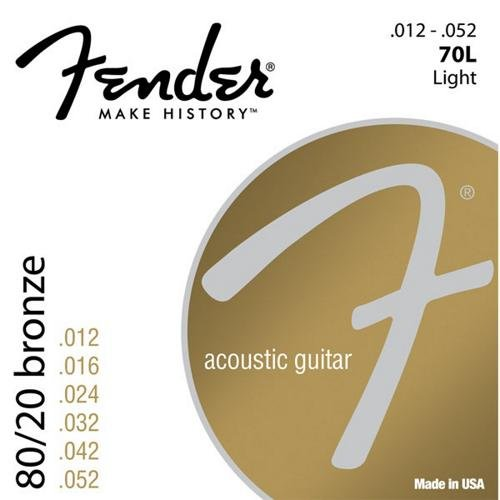 Fender 70L 80/20 Bronze Ball End 12-52, Acoustic Guitar Strings 730070003 F70L