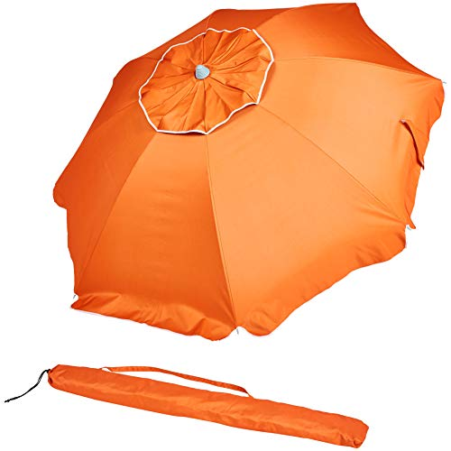 AmazonBasics Beach Umbrella - Orange