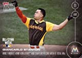 2016 Topps Now #241 Giancarlo Stanton Commemorative Baseball Card - Wins 2016 Home Run Derby with a Record Breaking 61 Homers!