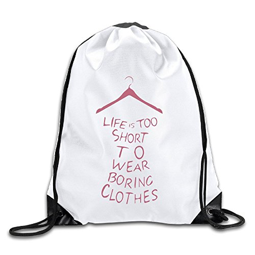 BENZIMM Life Is Too Short Drawstring Backpacks/Bags