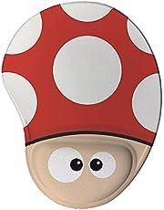 Mouse pad Ergonômico Cogumelo Games Presente Criativo Geek cor:Vermelho