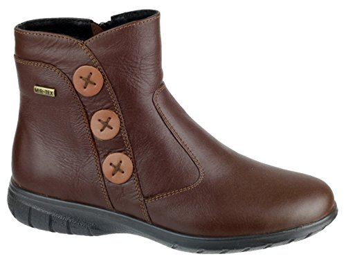 Cotswold womens Cotswold Boot Leather Leather Chocolate Fastening Brown Dowdeswell Ankle Ladies Zip pprqwTZ